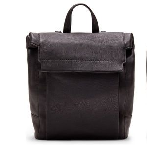 Vince Camuto Min Leather Backpack In Black